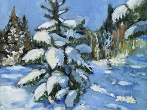 Gran i snö/Tree in snow